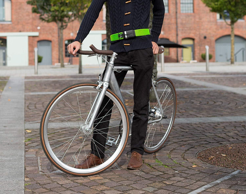 LITELOK LIGHT FLEXIBLE STRONG Antivol de v/élo unisexe dor/é Wearable pour adulte Vert boa 1000 mm x 50 mm