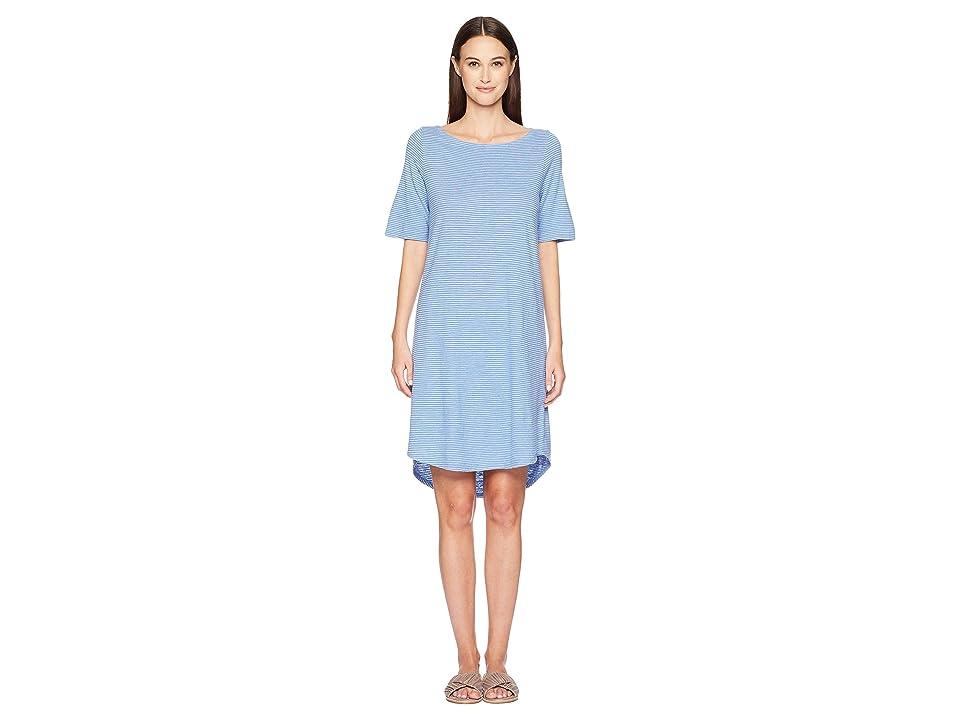 Eileen Fisher Bateau Neck Dress (Blue Bell) Women