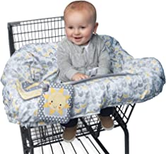Boppy Shopping Cart and Restaurant High Chair Cover, Sunshine/Gray