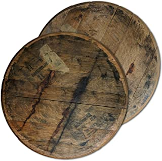 Barrel and Burlap Bourbon Barrel Lazy Susan Turntable Made in the USA from Authentic Reclaimed Rustic Wood