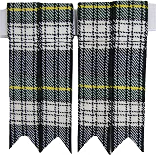 Tartanista Mens Plain & Tartan Plaid Kilt Sock Flashes