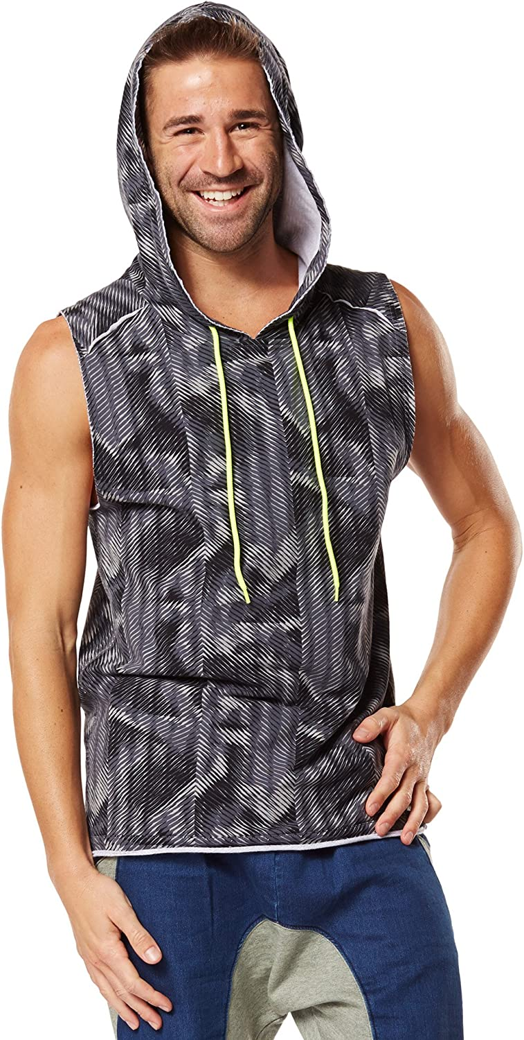 Sale Special Price Zumba Mens Surged Hoodie Sleeveless Manufacturer OFFicial shop