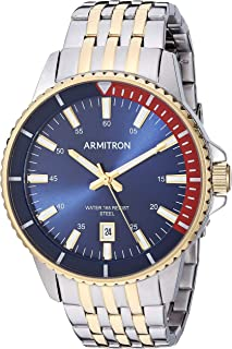 Armitron Men's Date Function Two-Tone Bracelet Watch, 20/5414NVTT