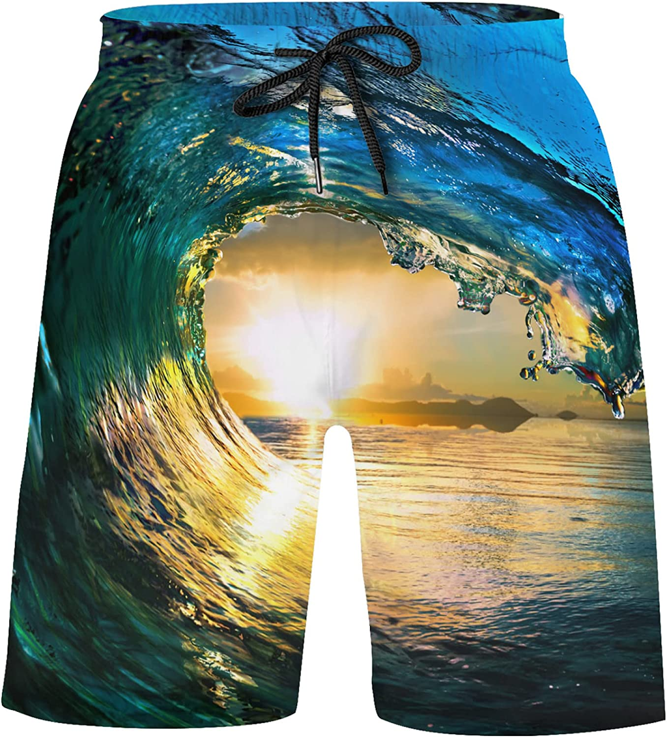 Pretty Ocean Waves Fall Down at Bathing Swim Limited time sale Boys Sunset Free Shipping Cheap Bargain Gift Trunks