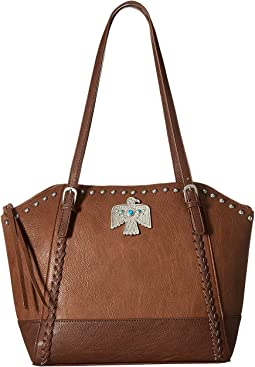 American West Guns and Roses Large Zip Top Tote