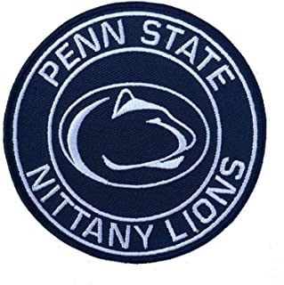 Iron On Patch University of Penn State Nittany Lions Logo Jersey 3.5 inch