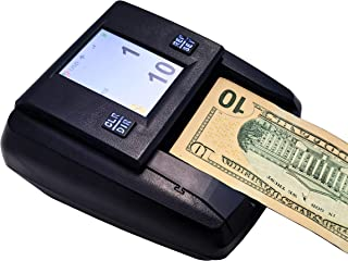Demotio Professional Counterfeit Bill Money Detector Venus DB-90 with True-Color LCD Display and Full Coverage IR/MG/MT De...