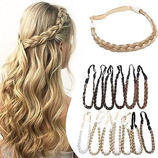 Braid Hairband Braided Hair Band Braided Hairband Braid Headband Synthetic Hair Plaited Braided Headband Elastic Stretch H...