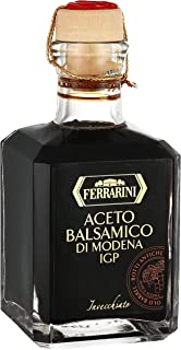 Italian Balsamic Vinegar Modena Aged - Aceto Balsamico di Modena IGP - Gourmet Barrel Aged Balsamic Vinegar - By Ferrarini. Certified Product PGI from Italy (8.4 oz.)