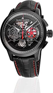 Maurice Lacroix Masterpiece Skeleton Automatic Watch, Chronograph, ML 206, PVD