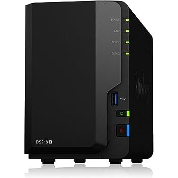 Synology DiskStation DS218+ 2ベイ NAS キット 日本正規代理店アスク サポート対応 デュアルコア Intel Celeron CPU搭載 保証2年 CS7059