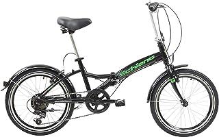 F.lli Schiano Pure, Bici Pieghevole Unisex-Adult, Nero-Verde