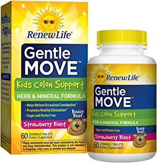 Advanced Naturals Gentle Move Kids Colon Support Tablets, 60 Count