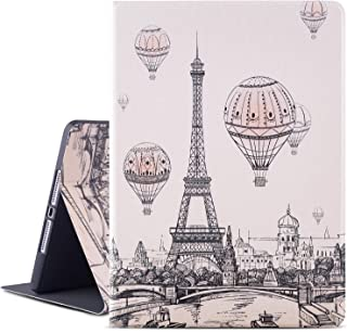 Ipad Air Case/Ipad Air 2 Case/Ipad 9.7 Inch Case 2017 2018,Vimorco Premium PU Leather Folio Smart Cover with Auto Wake Sleep/Stand/Protective for Apple iPad 6th / 5th Gen, Eiffel Tower