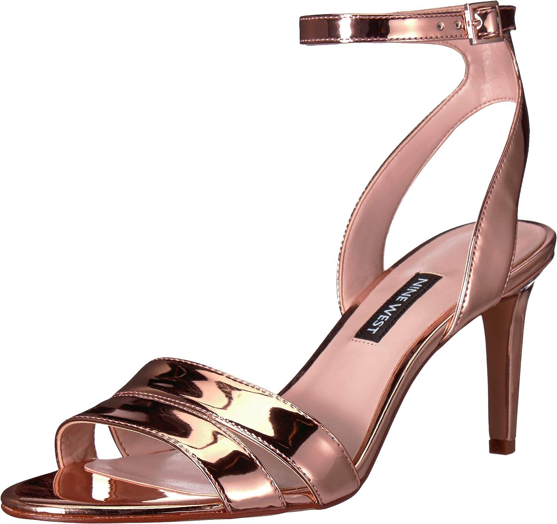 NINE WEST Women's Incheck Synthetic Heeled Sandal