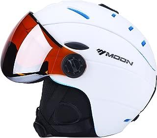 UNISTRENGH Ski Snowboard Helmet Attached Detachable Photochromatic Polarizing Goggles