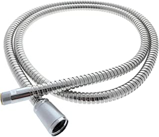 """Grohe Pull Out Replacement Hose, 46092000 - for Kitchen Faucets, (59"""" Inches) Light Chrome Finish, Fits Ladylux, Euro Plus & More Models - Replacement Part by Essential Values"""