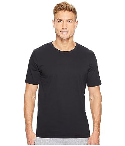 Hanro Living Short Sleeve Crew Neck Shirt (Black) Men
