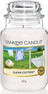 Yankee Candle bougie jarre parfumée | grande taille | Coton fraichement lavé | jusqu'à 150 heures de combustion