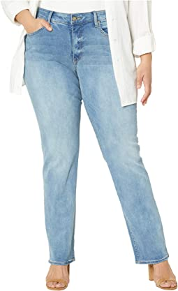 Plus Size Marilyn Straight Jeans in Biscayne