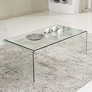 4cc90c2d393 Tangkula Glass Coffee Table Modern Home Office Furniture Clear Tempered  Glass End Table International Occasion Tea