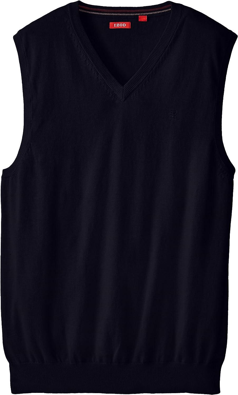 IZOD Men's Big and Tall Fine Gauge V-Neck Sweater Vest
