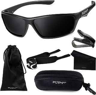 Polarized Sports Sunglasses for Men and Women - UV400 Protective and Glare Blocking - w. Bundle