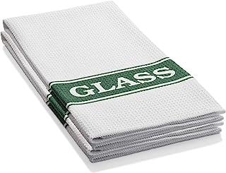E-Cloth Glassware Drying & Polishing Towel - Brilliant for Wine Glasses, Cocktail Glasses, Barware - 2 Pack