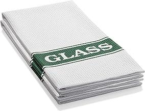 E-Cloth Glassware Drying & Polishing Microfiber Towel, 300 Wash Guarantee, Reusable 2 Pack