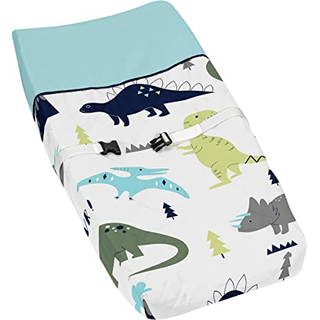 Baby boy Changing Pad Cover with dinosaurs Baby Boy Change Pad cover Dinosaur crib fitted sheet. Soft change pad cover