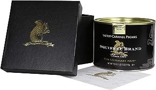 Squirrel Brand Artisan Nuts, Salted Caramel Pecans, 18 oz Tin in Black Gift Box
