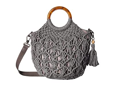 The Sak Helena Bracelet Handle Crossbody (Grey) Handbags