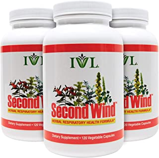 IVL Second Wind Herbal Respiratory Health Formula, 120 Capsules (Pack of 3)