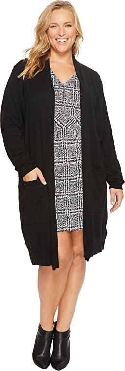 MICHAEL Michael Kors - Plus Size Extra Long Easy Cardi