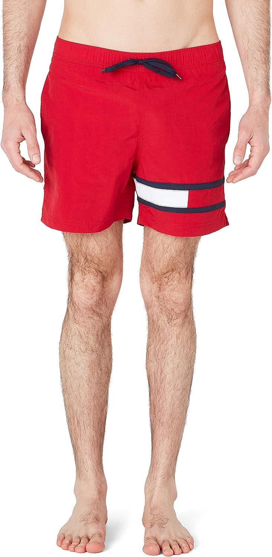 Tommy Hilfiger Logo Tape Slim Fit Mid Length Swim Shorts Bañador para Hombre
