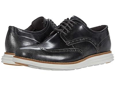 Cole Haan Original Grand Wingtip Oxford (Pavement Brush-Off Leather/Glacier Gray) Men