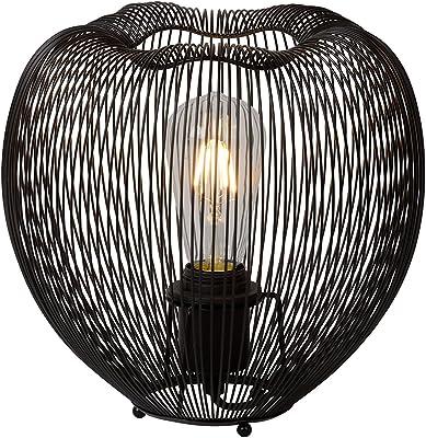 Lucide wirio–Lámpara de mesa–Diámetro 26cm–Cobre, metal, negro, E27 60 wattsW 230 voltsV