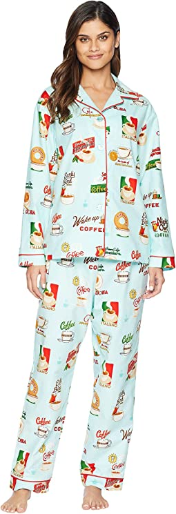Cafe Au Lait Flannel Pajama Set
