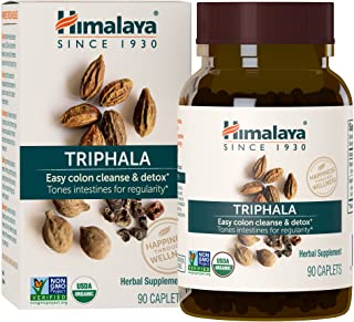 Himalaya Organic Triphala 90 Caplets for Colon Cleanse 688mg, 3 Month Supply