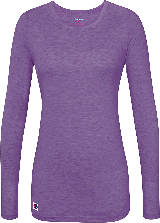 Sivvan Womens Comfort Long Sleeve T-Shirt//Underscrub Tee