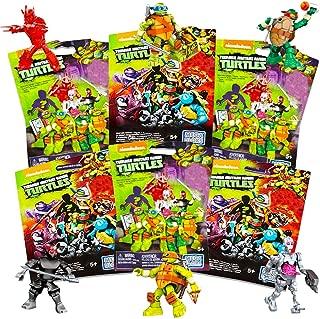 Mega Bloks Teenage Mutant Ninja Turtles Blind Bags Party Favors Set - Pack of 6 TMNT  Mystery Blind Packs (TMNT Party Supplies)