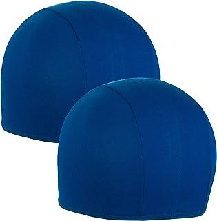 Bonnets de Bain Couleur Bleu Royal Hic et Nunc Sport 2X Bonnet de Bain Unisexe Bonnet de Bain 100/% Tissu Polyester Taille Unique Adulte