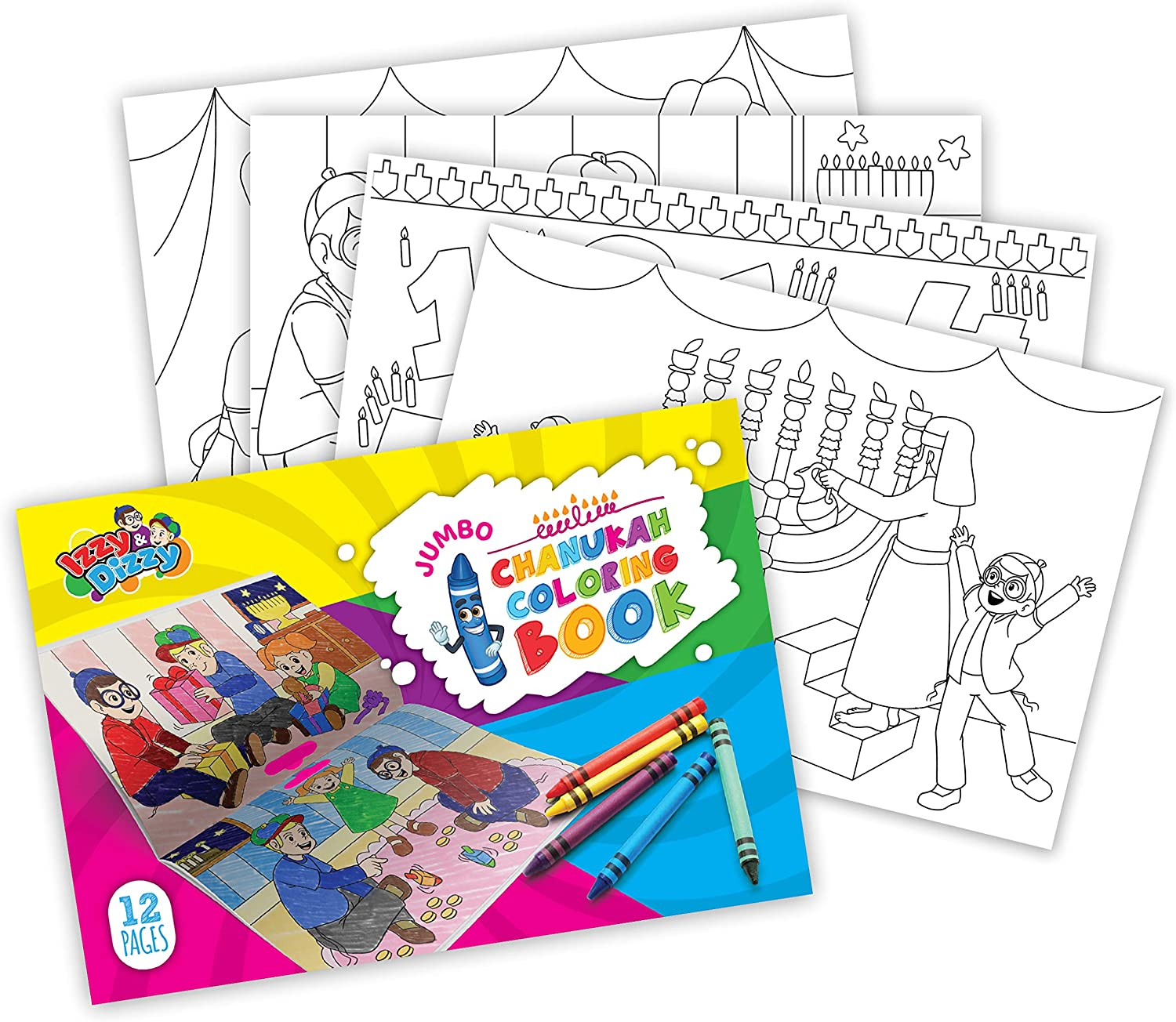 Izzy 'n' Dizzy Jumbo Hanukkah Coloring a for Max 49% OFF Book - Great Max 70% OFF Partys