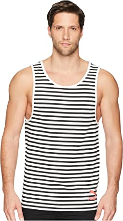 Summer Breton Stripe Tank Top