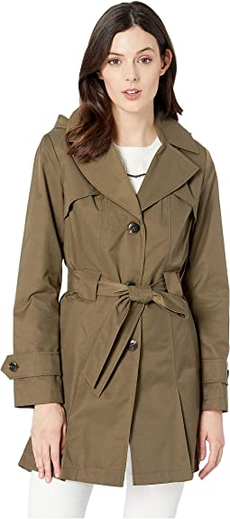 Single Breasted Hooded Belted Trench