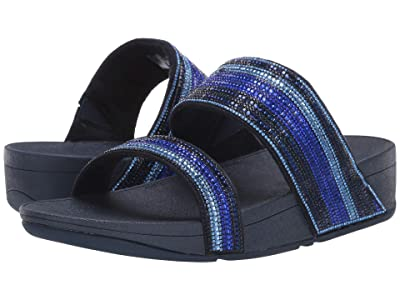 FitFlop Rosa Crystal Mosaic Slide (Aurora Blue) Women