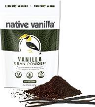 Native Vanilla - Premium Gourmet 100% Pure Ground Vanilla Bean Powder (57g) - For Coffee, Baking, Ice Cream, Keto-Friendly