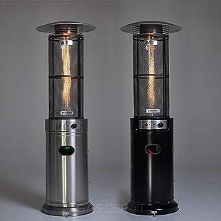 Real Glow 15 KW Flamma uteplats värmare med glasrör (svart)