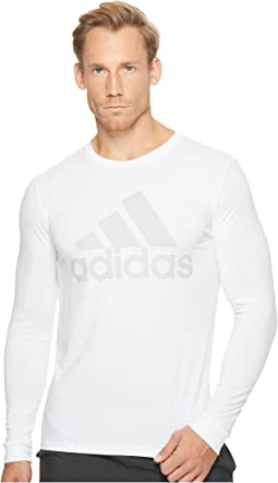 adidas - Badge of Sport Metal Mesh Long Sleeve Tee