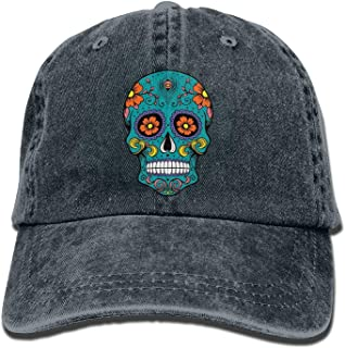 Sugar Skull Vintage Jeans Baseball Cap Outdoor Sports Hat for Men and Women